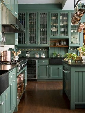 Green cabinets 1