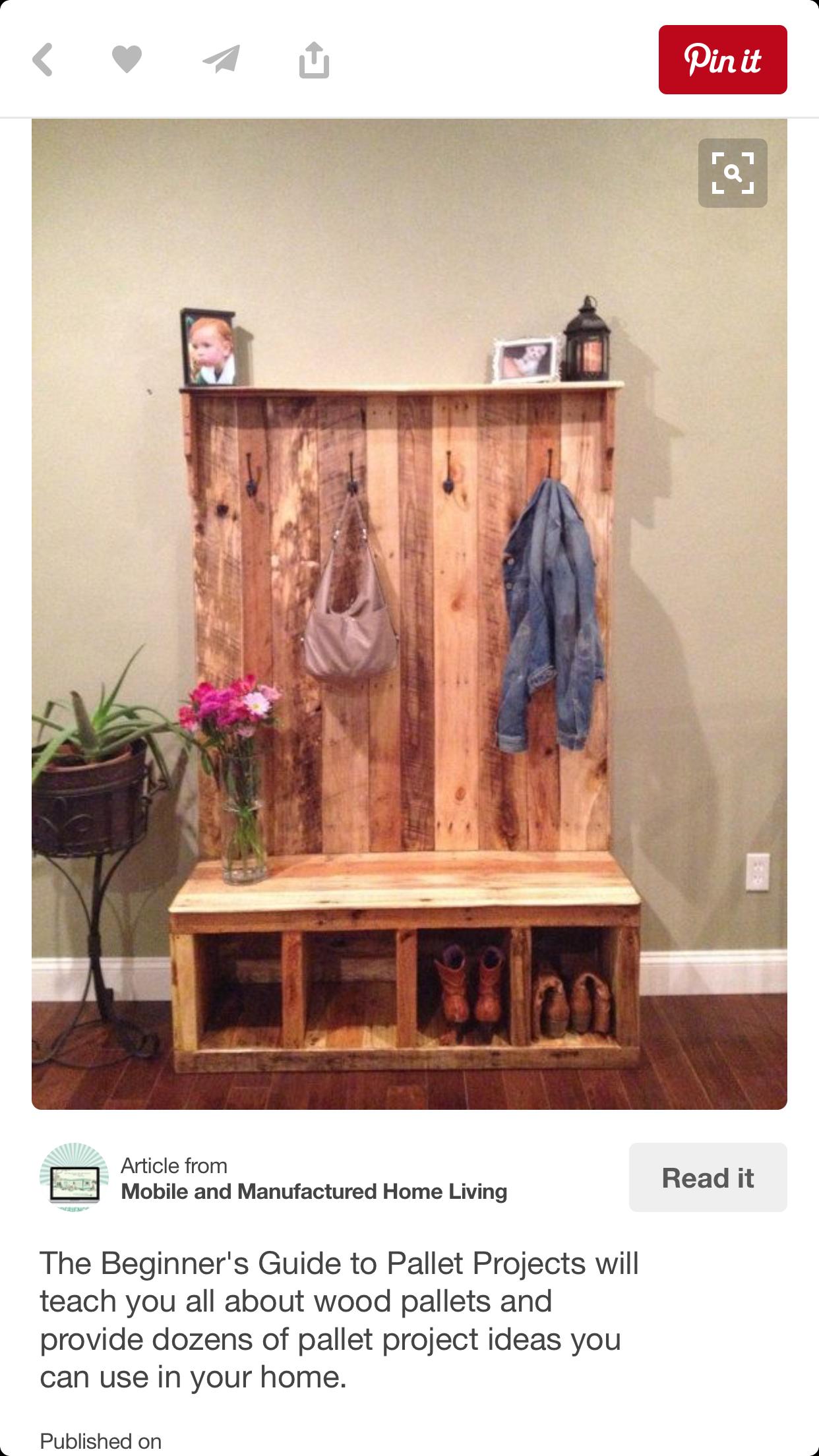 Hall Tree Coat Rack Storage Bench
