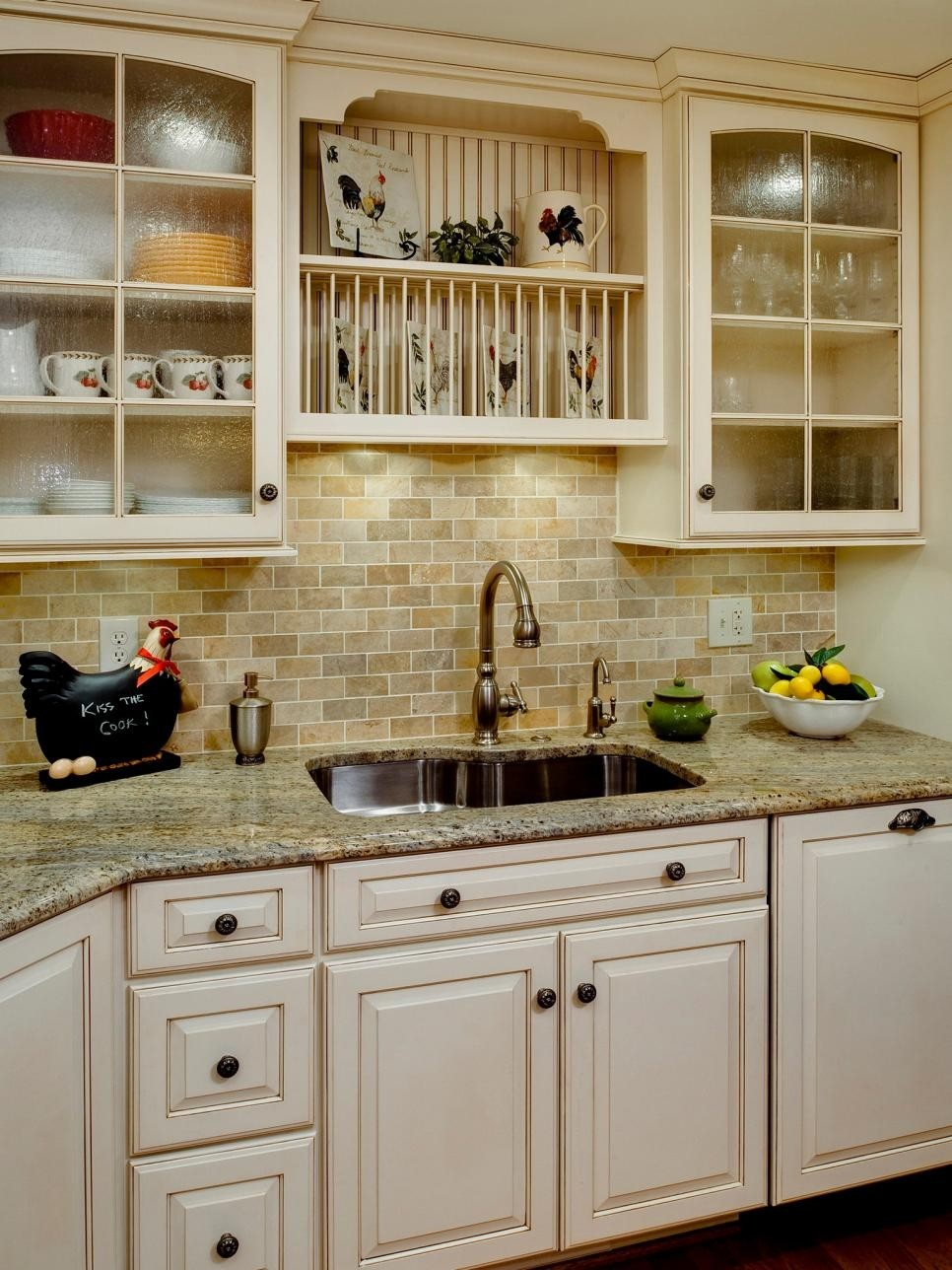 Ivory Painted Kitchen Cabinets