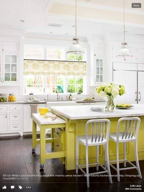Kitchen islands with tables attached