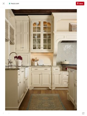 Kitchens with ivory cabinets