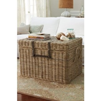 Large rattan storage chest