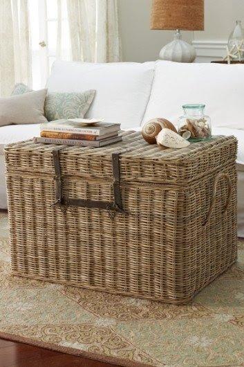 Large rattan storage chest & Rattan Storage Chests - Foter