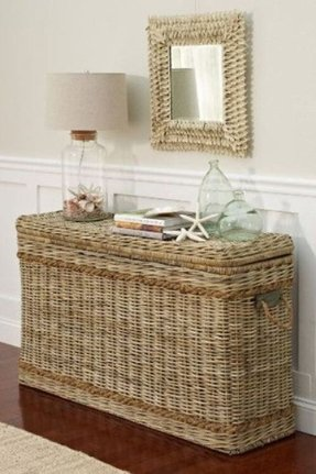 Large wicker trunks