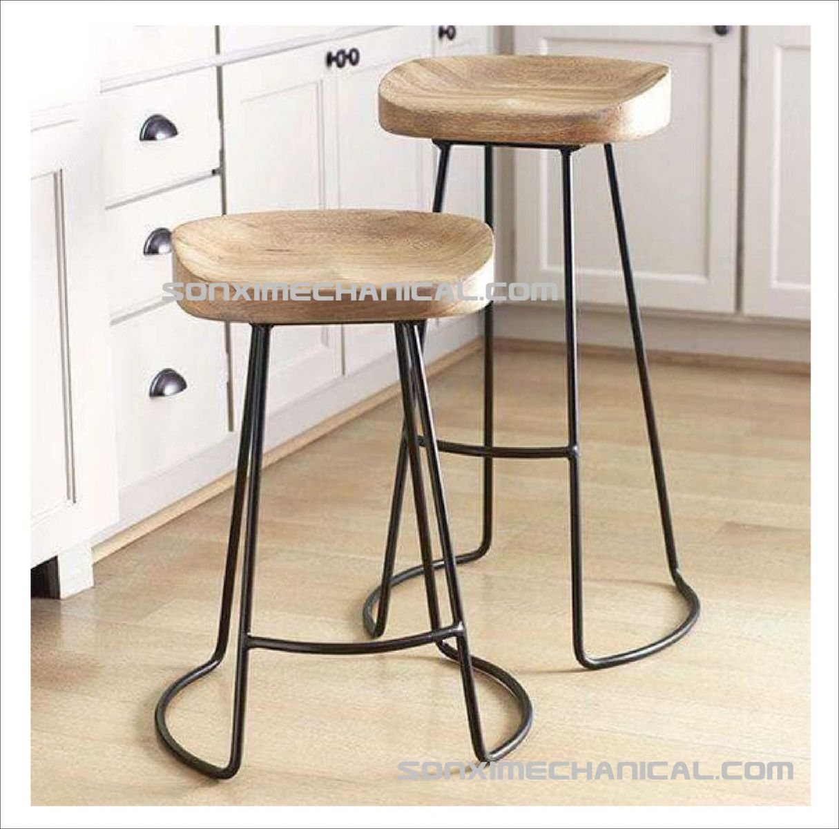 Beautiful Metal Kitchen Stools