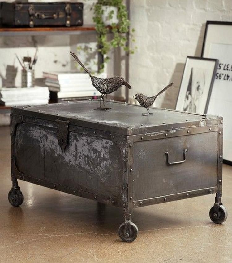 Genial Metal Trunk Coffee Table