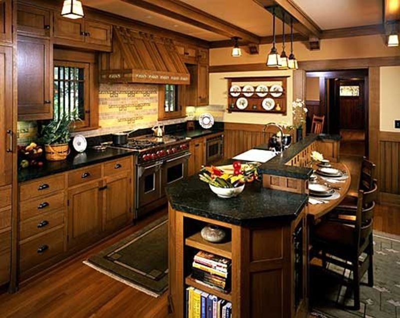 Mission Style Paint Schemes Craftsman Style Kitchen Cabinets Image 781