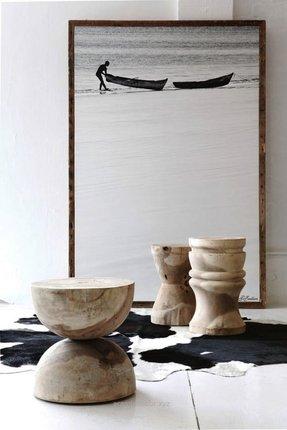 Wood Pedestal Side Table Foter