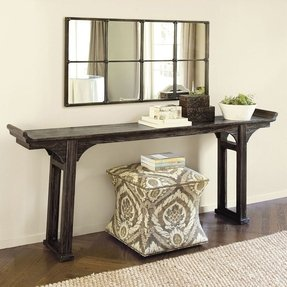 Narrow mirrored console table