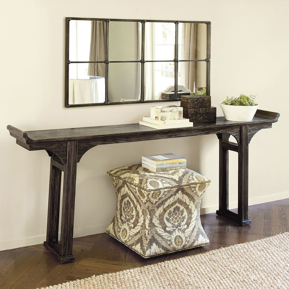 Nice Narrow Mirrored Console Table