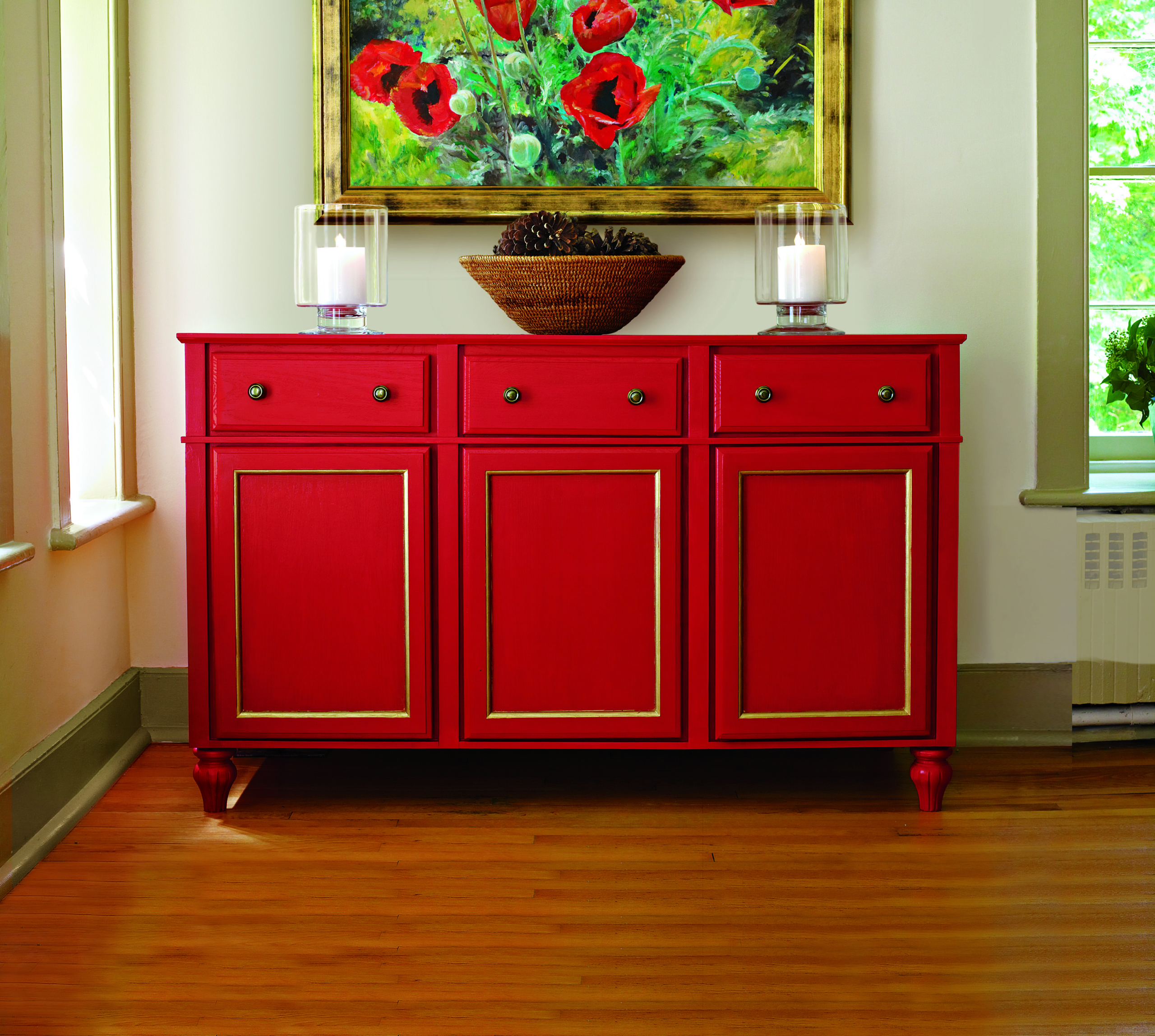Orange Cabinets 4. Red Buffet ...