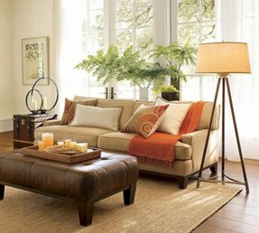 Orange footstools