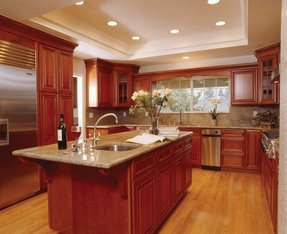 paint colors for kitchens with cherry cabinets cherry cabinets foter 9684