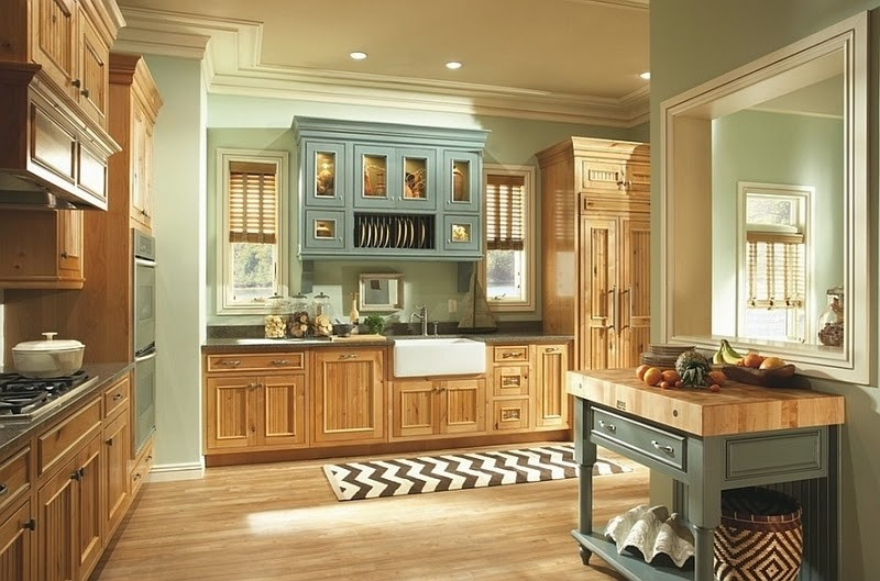 Paint Colors For Kitchens With Oak Cabinets 2