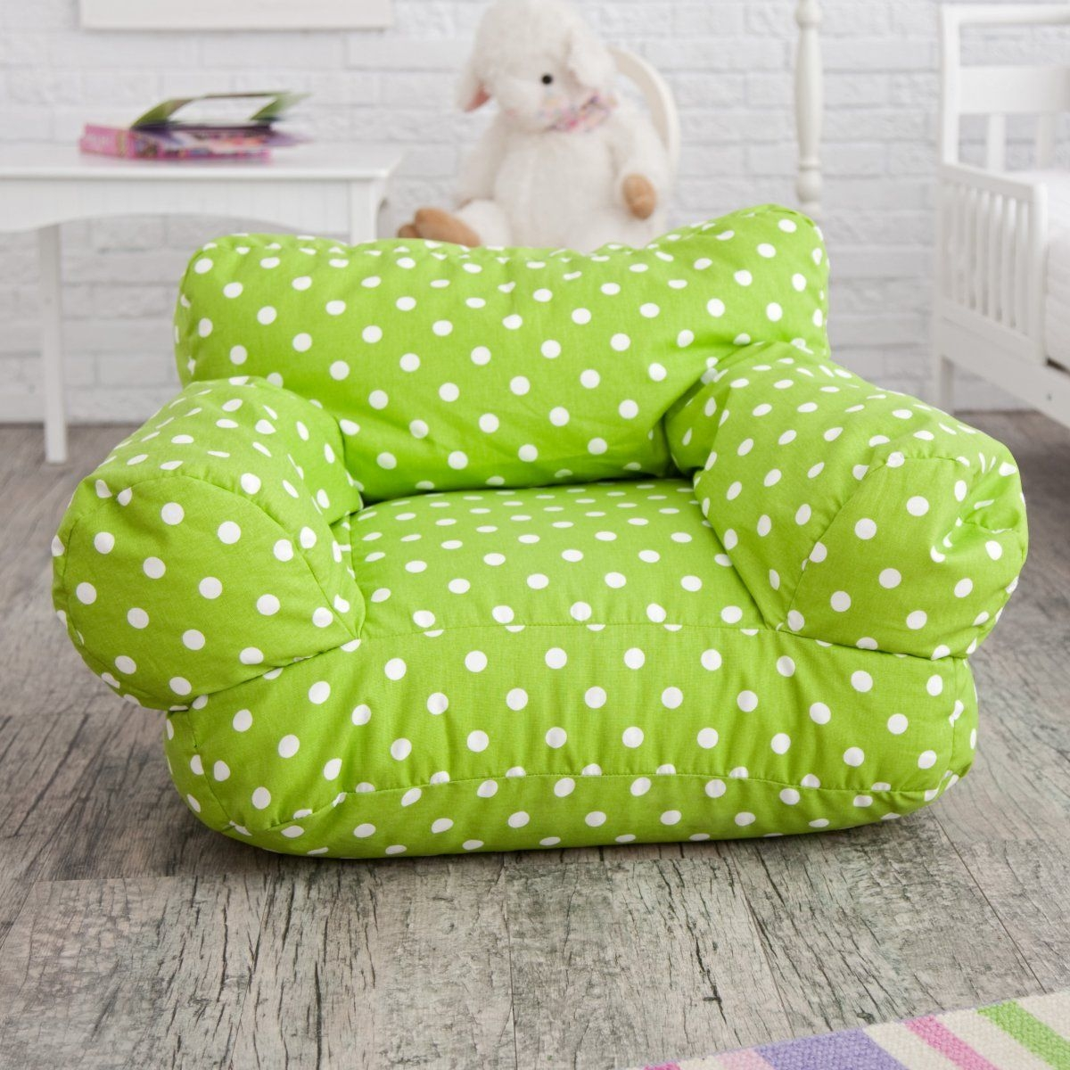 Beau Purple Polka Dot Bean Bag Chair