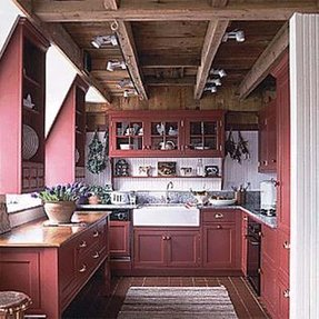 barn red kitchen cabinets cabinets foter 4319