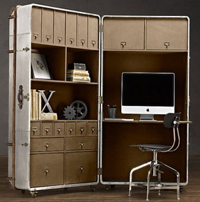 Secretary Style Computer Desk Foter