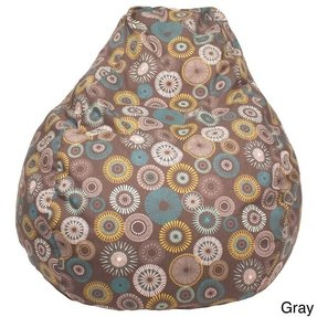 Starburst pinwheel pattern large teardrop cotton bean bag chair 1