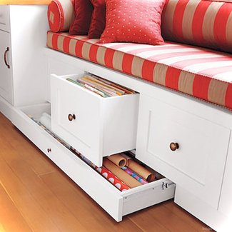 Storage benches with drawers 1