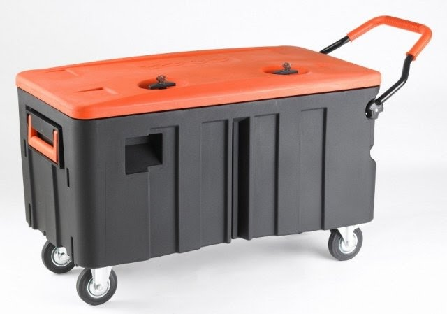 Storage Trunk With Wheels And Handle