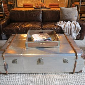 There was a coffee table made from a giant aluminum