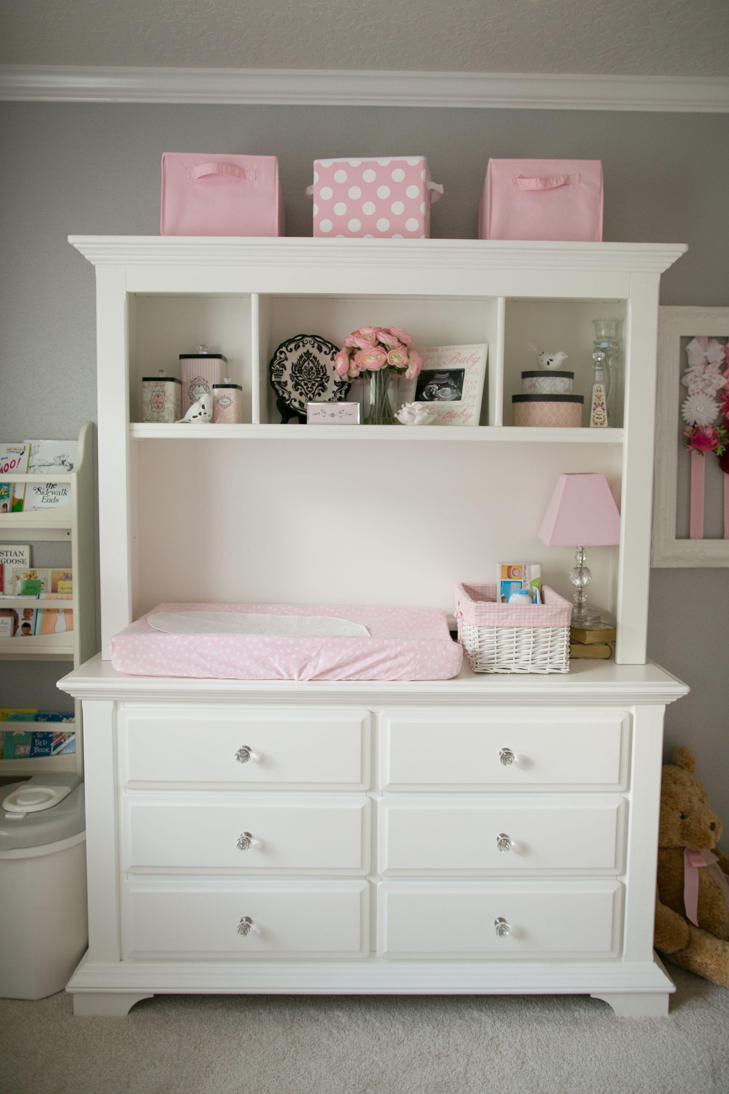 Bon White Changing Table Dresser