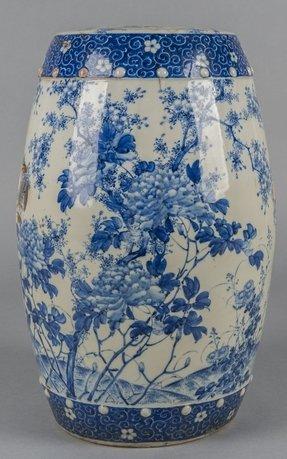 blue garden stool. White Garden Stool Blue