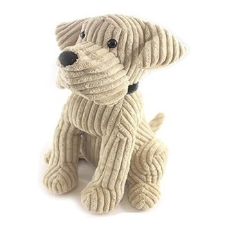 1.8kg Heavy Door Stop Novelty Animal Dog Door Stopper Cream Corduroy Fabric