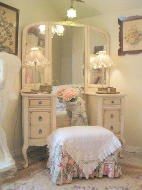 Oak Vanity Table - Foter