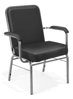 Black stacking chairs 1