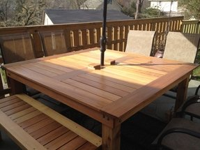 Cedar patio tables