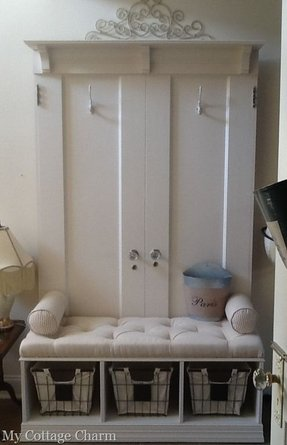 Hall Tree Coat Rack Storage Bench Foter