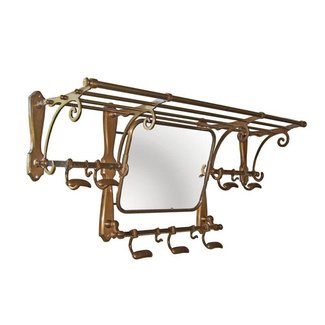 Coat rack with mirror