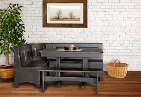 Corner bench table