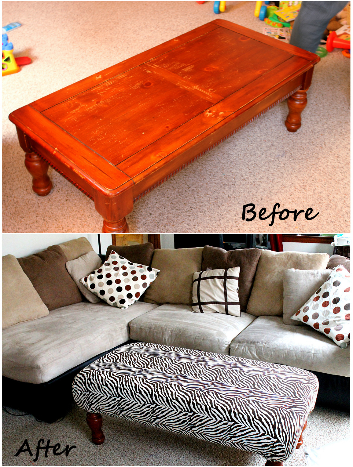 Fabric Coffee Table Ottoman Foter