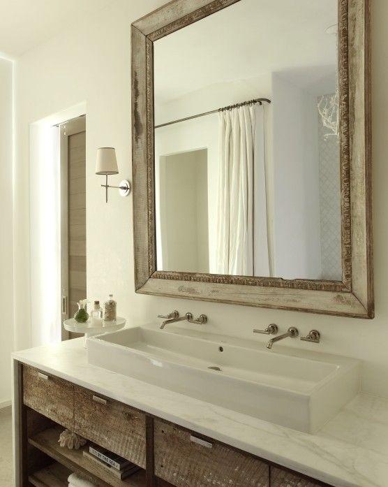 Double Trough Bathroom Sink