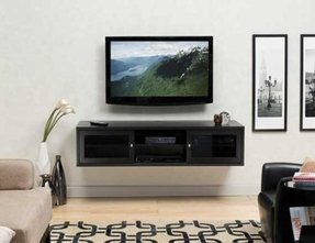 Floating shelf for tv components
