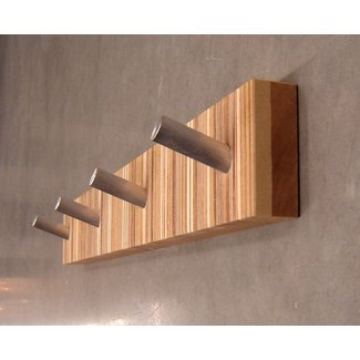 Four hook modern coat rack mid century