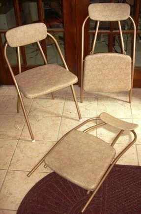 Gold folding chairs 1