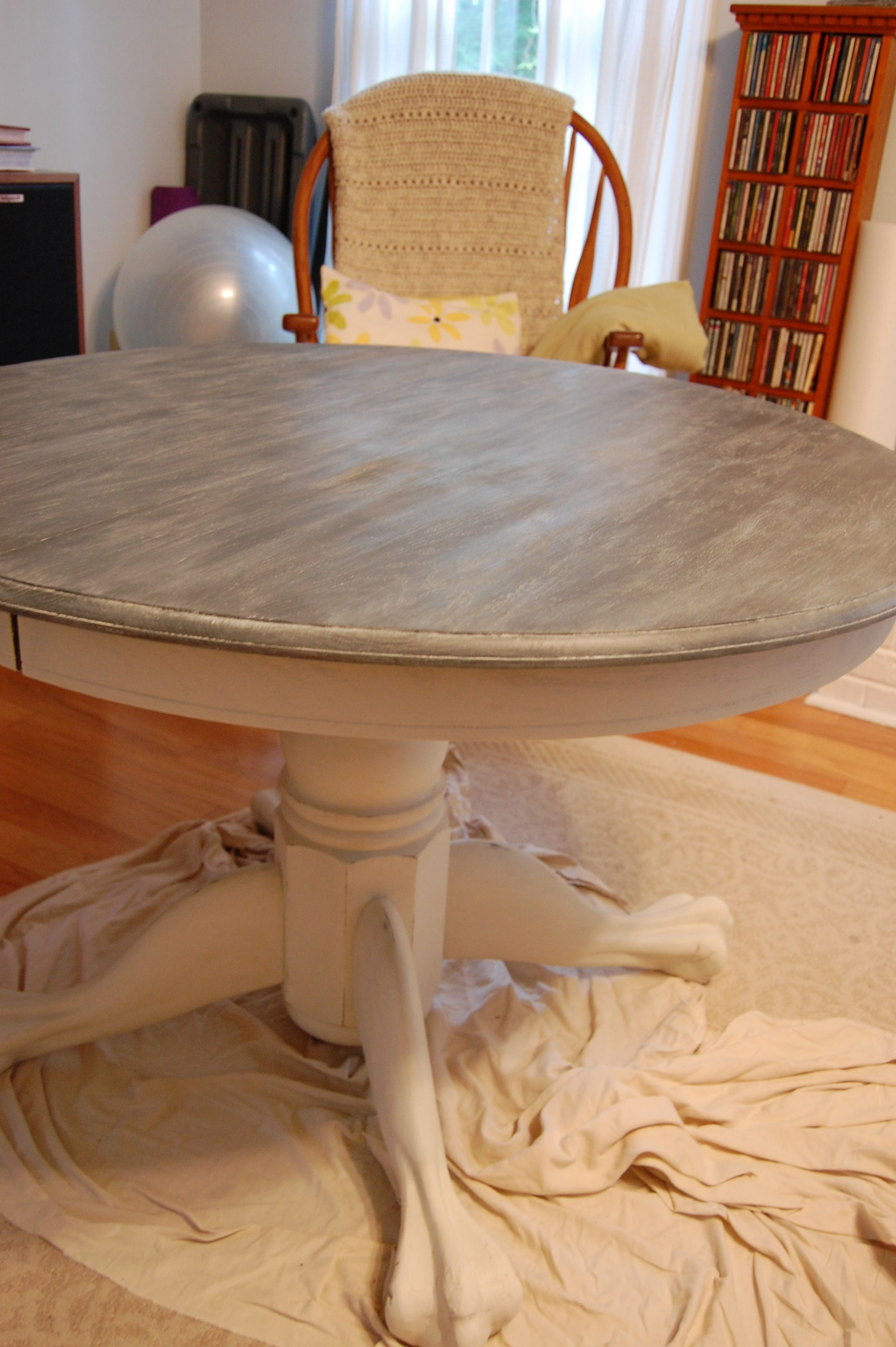 Gray Stained Dining Table