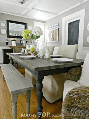 Grey Kitchen Table