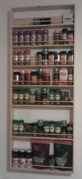 Ikea wall spice rack