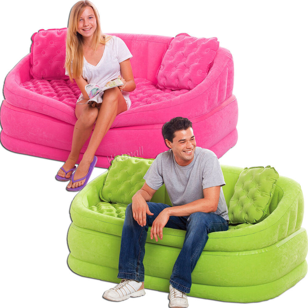 Intex Cafe Loveseat Chair Inflatable Gaming Lounge Sofa Dorm Chair New