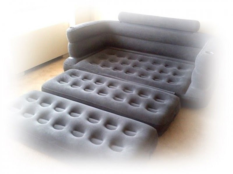 Intex Pull Out Sofa Queen Inflatable Air Mattress Airbed Bed