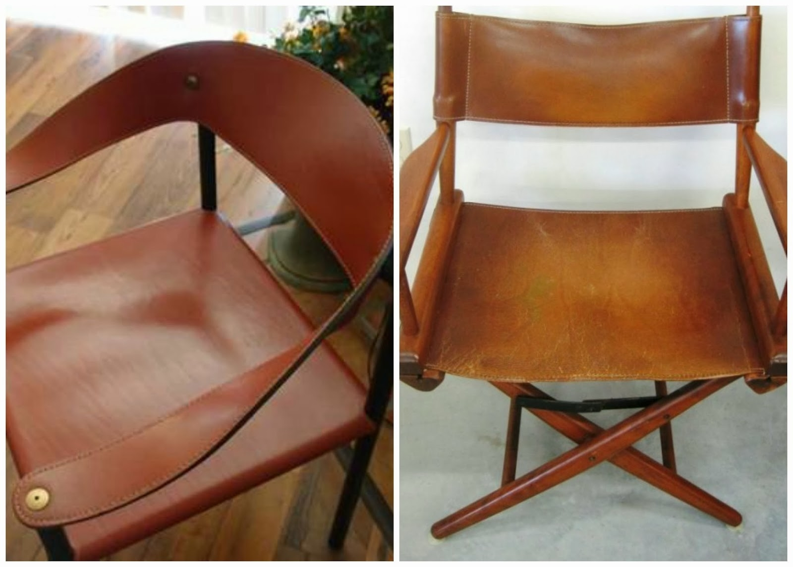 Leather Directors Chair Folding