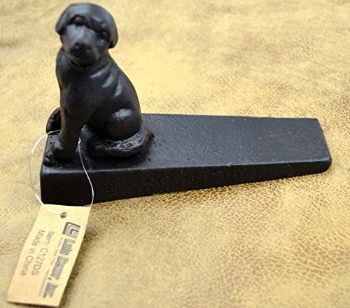 Lulu Decor, Cast Iron Dog Door Stop (Vintage Black)