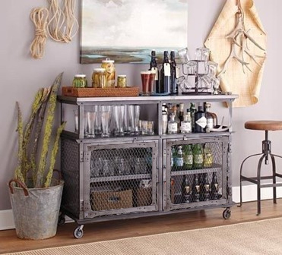 Genial Metal Bar Cart