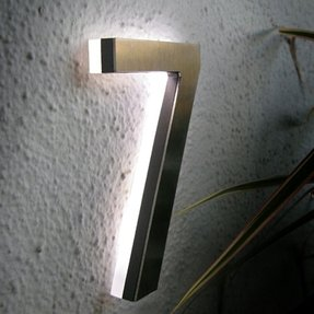 Modern led house number 5 outdoor by luxello led modern