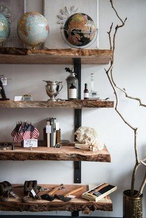 Natural Wood Floating Shelves