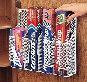 New wrap organizer foil door holder rack wax paper